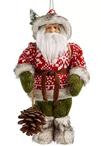 Holiday Lane Christmas Cheer Forest Santa Ornament