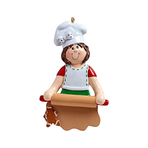 Personalized Loves to Bake Christmas Tree Ornament 2019 – Chef Chief Cooker White Ribbon BBQ Spatula Best Restaurant New Cuisine Taste Profession Job Year – Free Customization