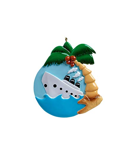 Rudolph & Me Inc Cruise Ship Personalized Christmas Ornament