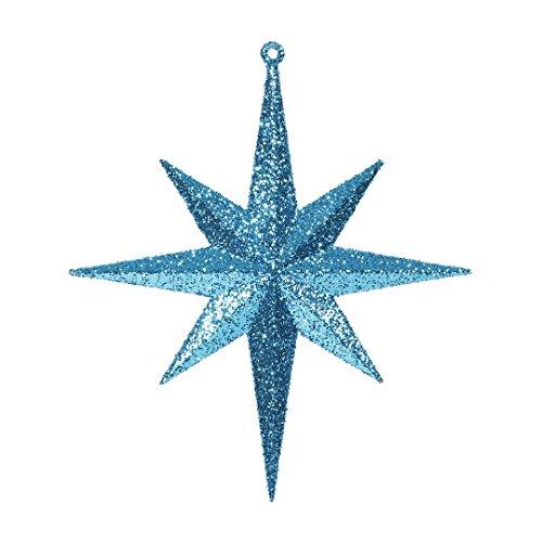 Vickerman M167212 Plastic Iridescent Glitter Bethlehem Star 4/Box, 8″, Teal