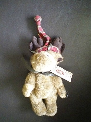 Boyd's Bear Head Bean Collection Moose with Hat Christmas Tree Ornament #562728!