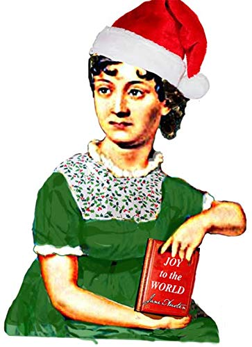 Jane Austen Christmas Ornament Handcrafted Wood, Book Club Gift, Literary Women Authors Pride Prejudice Librarian English Professor Gift