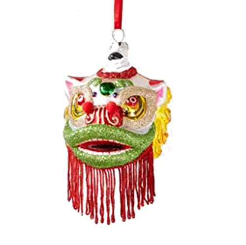 Holiday Lane East Meets West Chinese Dancing Lion Ornament