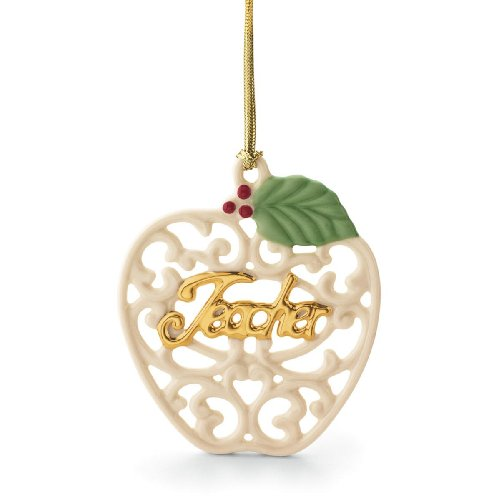 Lenox For My Teacher- Apple Ornament