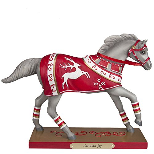 "Enesco Trail of Painted Ponies ""Crimson Joy"" Stone Resin Figurine, 6.5″"