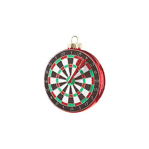 Glitter Red Green Black Dart 3.75 inch Glass Decorative Christmas Ornament