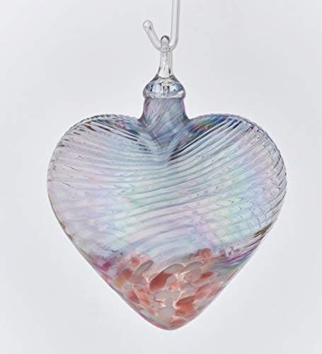 Glass Eye Studio Cherry Blossom Classic Heart Ornament