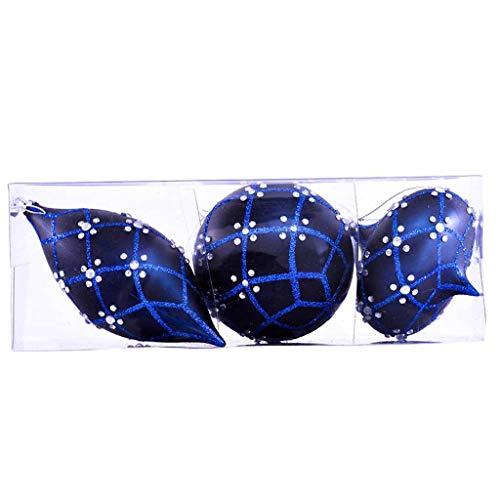 Vickerman Ornament Sets, 7″, Midnight Blue