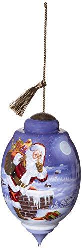 Ne'Qwa Limited Edition Trillion Christmas 2019 Santa Dated Ornament, Multi