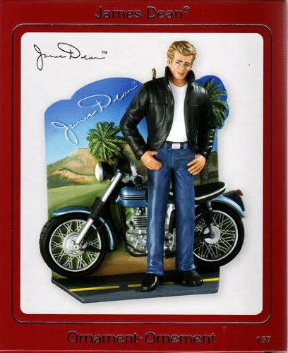 James Dean With Motorcycle 2009 Carlton Ornament