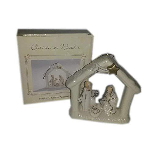 International Bazaar Christmas Wonder Porcelain Creche Ornament