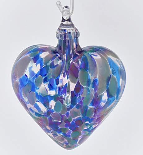 Glass Eye Studio Lavender Classic Heart Ornament