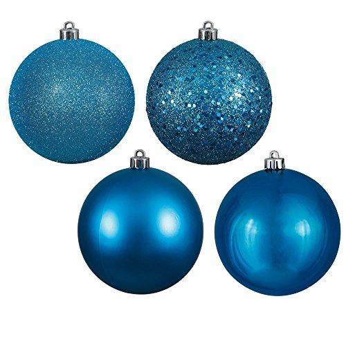 Vickerman Ball Ornament, 1″, Turquoise