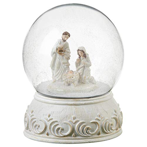 Delton 5625-6 Resin Musical Nativity Snowglobe