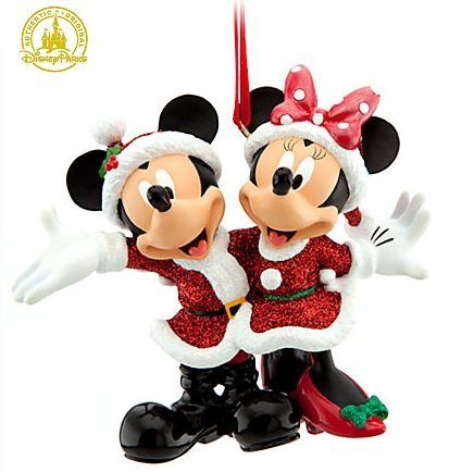 Disney Holiday Santa Mickey & Minnie Mouse Ornament – Disney Theme Parks Exclusive & Limited Availability