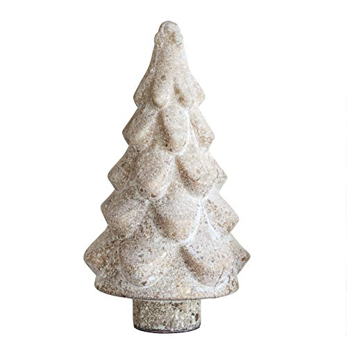 Creative Co-Op Glass Tree with Marble Finish, 14″, Gold