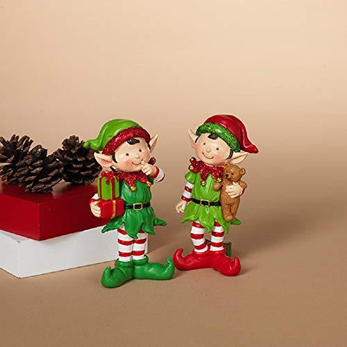 Gerson Santa's Elves Festive Holiday Ornaments – Set of 2