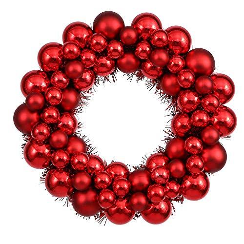 Vickerman 12″ Red Colored Ball Wreath