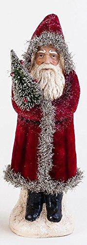 One Hundred 80 Degrees Velvet Belsnickle Figurine (Red)