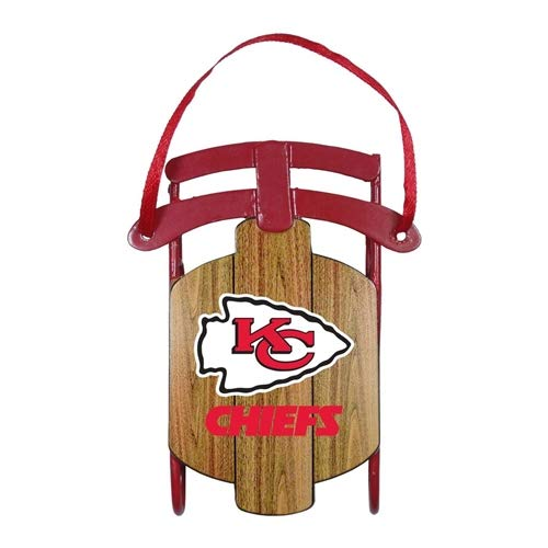 Topperscot Kansas City Chiefs Metal Sled Ornament