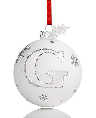 Holiday Lane Initial 'G' Ball Ornament Christmas Tree Decor