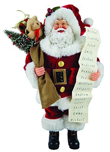 Santa's Workshop 5603 Santa with List Figurine, 12″