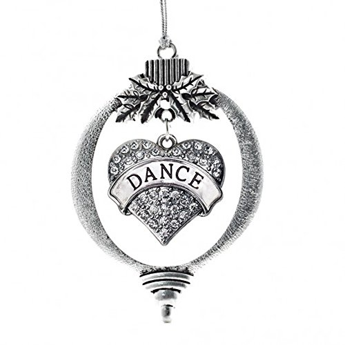 MadSportsStuff Christmas Ornament with Crystal Dance Heart Charm