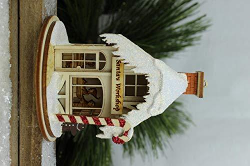 KIG Exclusives Ginger Cottages Santa's Workshop Wood Christmas Village House