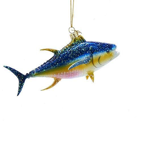 Kurt-Adler Glass Ornament with S-Hook and Gift Box, Animal Collection (Tuna Fish, NB1452)