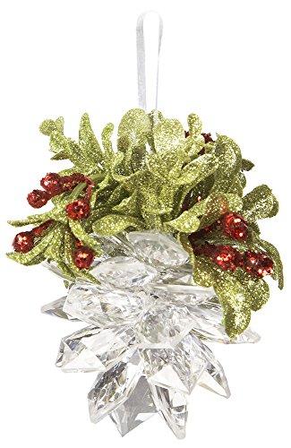 Ganz Wedding Christmas Kissing Krystals 4.5″ Mistletoe Pinecone Ornament