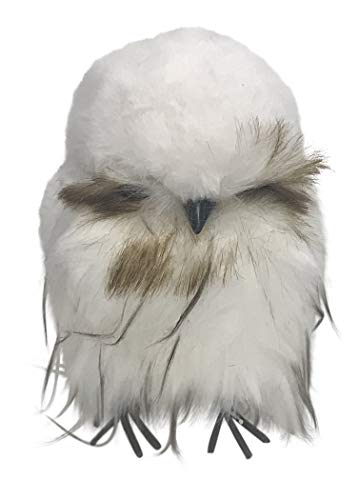 180 Degrees Chubby Owl Faux Fur Figurine JA0054 7 Inches (White)