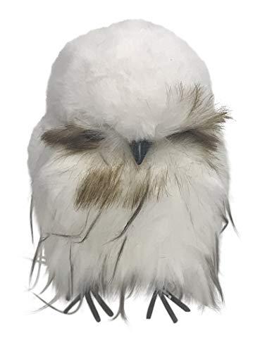 180 Degrees Chubby Owl Faux Fur Figurine JA0054 7 Inches (White)
