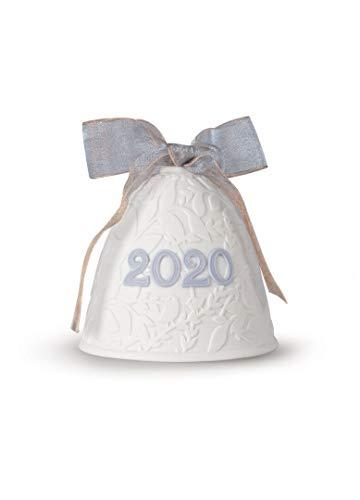 Lladro 2020 Porcelain Christmas Bell Blue #18454