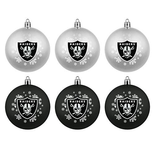 Boelter Brands Oakland Raiders Home & Away Shatter Proof Ball Ornament Gift Set of 6