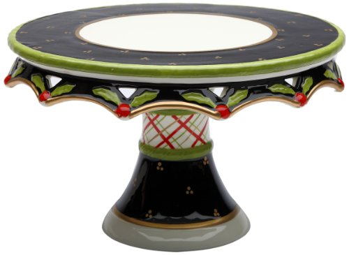 Appletree Design 40209 Holly Cake Stand, 10-1/4 by 6-1/4 by 10-1/4-Inch