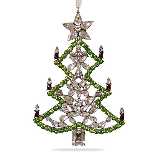 Hallmark Keepsake 2017 All Spruced Up Premium Gemstone Tree Christmas Ornament