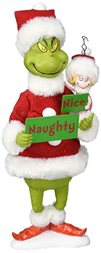 Department 56 Grinch Naughty or Nice, 12″ Figurine, Multicolor