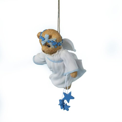 Enesco Cherished Teddies Collection Angel with Stars Holiday Ornament