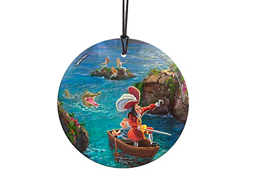 Trend Setters Disney – Peter Pan – Captain Hook and SMEE – Starfire Prints Hanging Glass – Light Catching Hanging Décor – Ideal for Gifting and Collecting