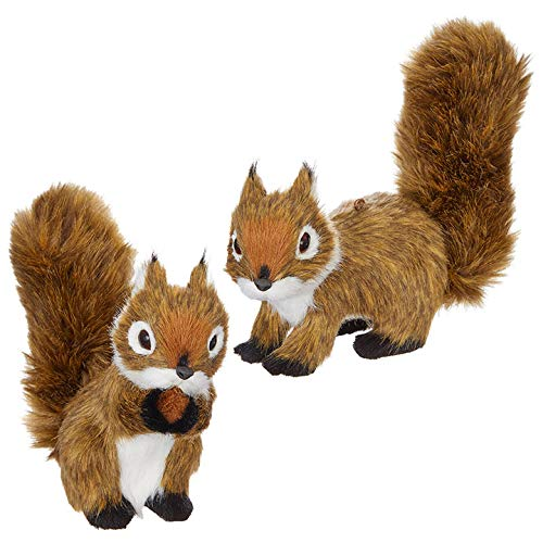 RAZ Imports – 5.25″ Squirrel Ornament – Set of 2