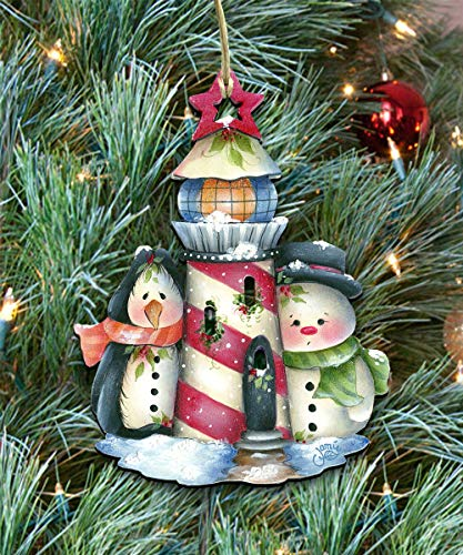 G. Debrekht Christmas Ornaments – Wooden Christmas Tree Ornaments – Christmas Ornaments by Jamie Mills-Price (Keepers of The Light)