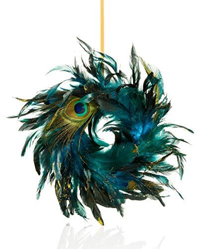 Holiday Lane blue feather ornament