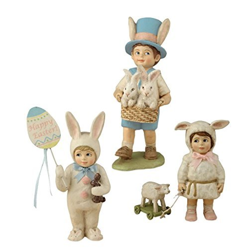 Bethany Lowe Hand Painted Easter Kids Parade 4″-5.5″ Tall Figures – Set of 3