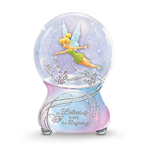 The Bradford Exchange Disney Tinker Bell Musical Glitter Globe with Sentiment