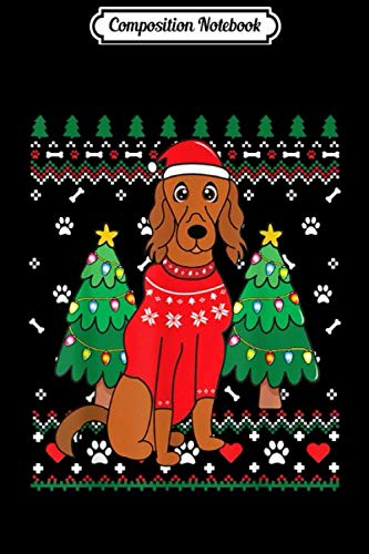 Composition Notebook: Irish Setter Christmas Ornament Tree Xmas Dog Mom Gift  Journal/Notebook Blank Lined Ruled 6×9 100 Pages