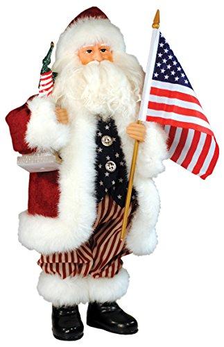 Santa's Workshop 9323 American Santa Figurine, 15″
