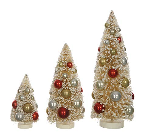Creative Co-op Sisal (Set of 3 Sizes) Tree Figurine, Multicolor
