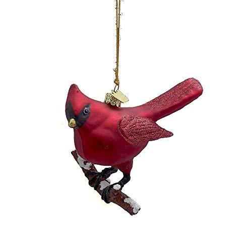 Kurt Adler Noble Gems Glass Cardinal Ornament