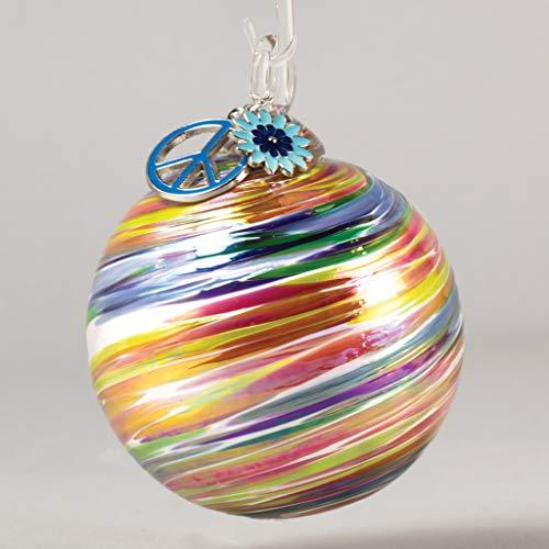 Glass Eye Studio Artisan Ball Ornament Summer of Love Woodstock