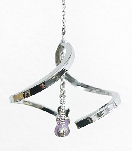 Crystal Delight by Mascot Propelling Spiral Ornaments – Cross or Guitars (Guitars – Purple)
